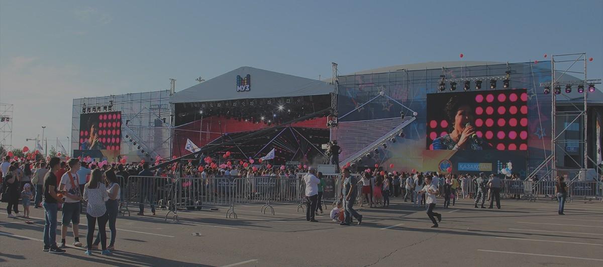 Светодиодные экраны для праздников и фестивалей